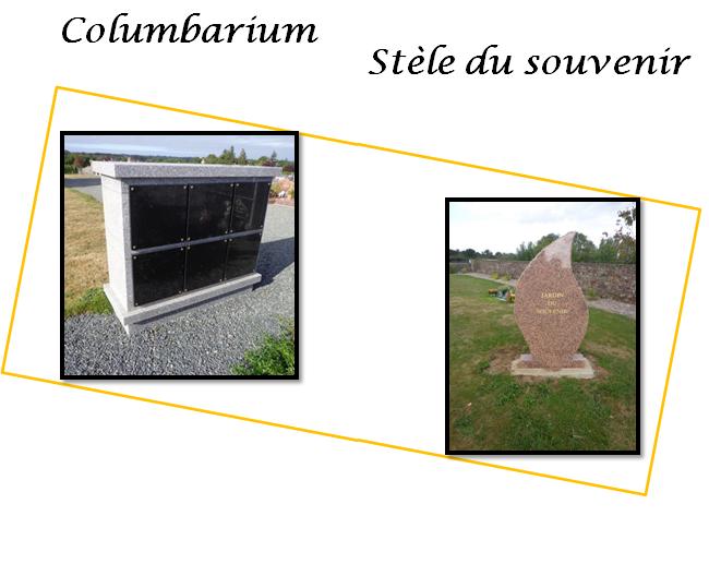 columbarium et stèle du souvenir